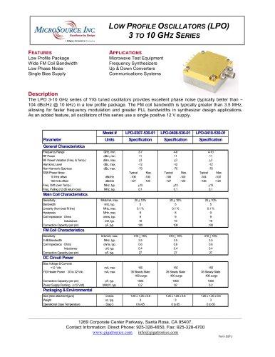 YIG-tuned Oscillator LPO-0307-530-01