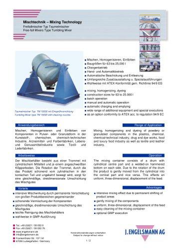 Brochure Tumbling Mixers