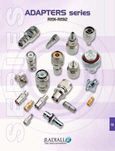 RF Coaxial Connectors Adapters Between Series