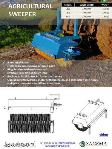 Agricultural Sweeper Datasheet
