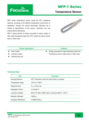 MFP-1 Series Temperature Sensor
