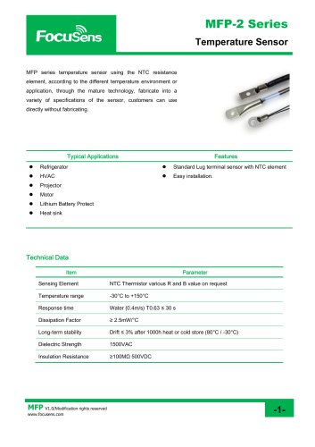 MFP-2 Series Temperature Sensor