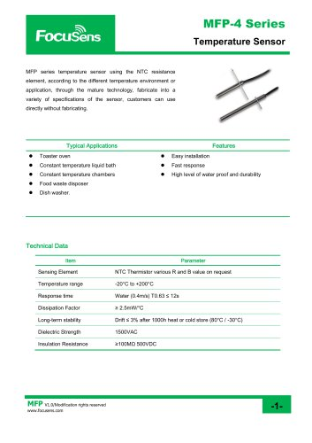 MFP-4 Series Temperature Sensor