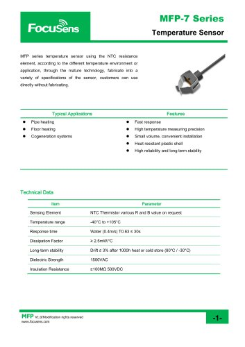 MFP-7 Series Temperature Sensor