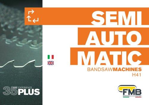 Semiautomatic band saws machines -H41
