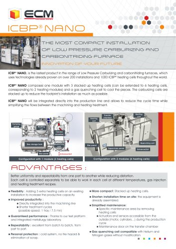 Compact installation of Low pressure carburizing - ICBP NANO