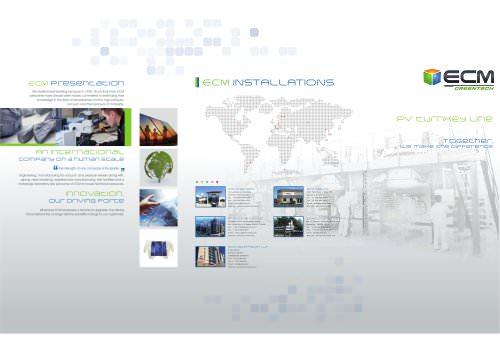 General Presentation for ECM Greentech