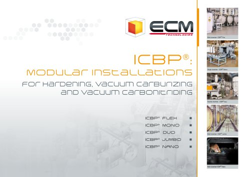 ICBP brochure-modular installations for Hardening,Vacuum Carburizing & Vacuum Carbonitriding