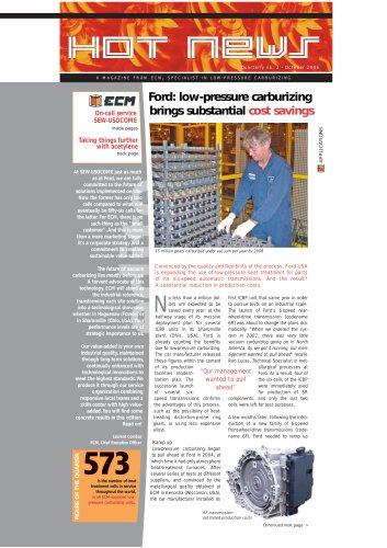 low-pressure carburizing brings substantial  cost savings