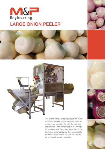 Large Onion Peeling Machine