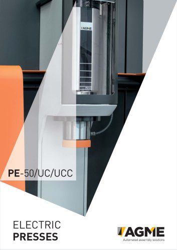 AGME electric presses and servo presses
