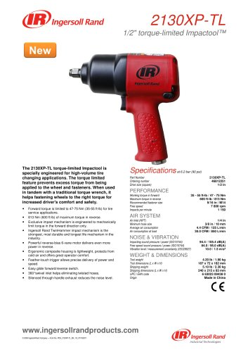 "2130XP-TL Torque-Limited Impact Wrench - 1/2"" Drive"