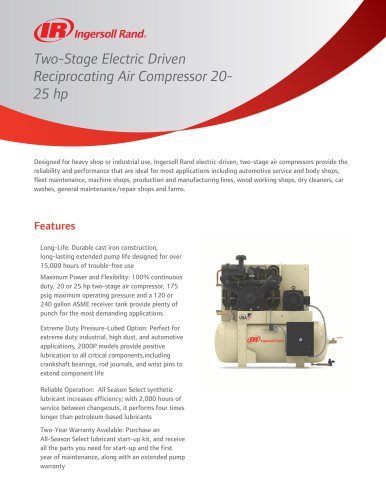 Air Compressor 20-25 hp