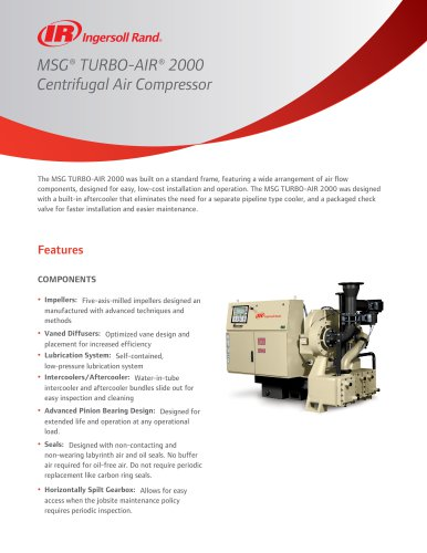 MSG® TURBO-AIR® 2000 Centrifugal Air Compressor