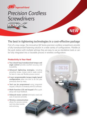QX Series Precision Cordless Screwdrivers
