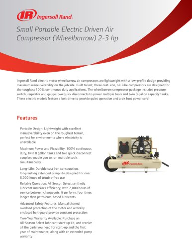 Small Portable Electric Driven Air Compressor