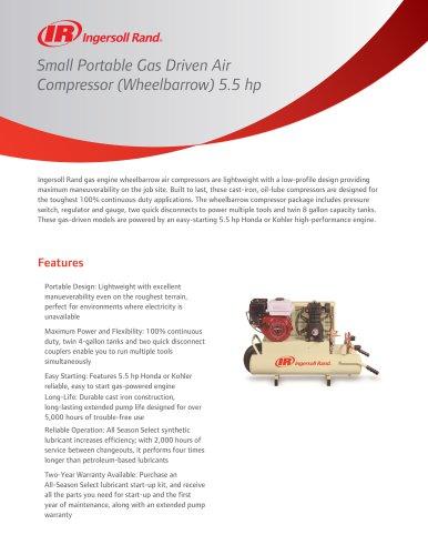 Small Portable Gas Driven Air Compressor
