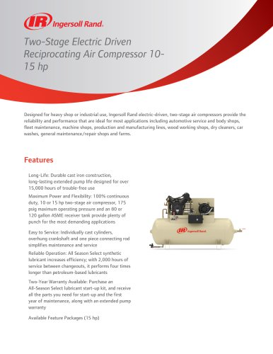 Two-Stage Electric Driven Reciprocating