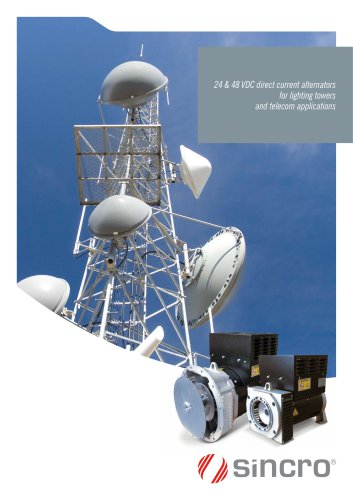 24 & 48 VDC alternators for lighting towers and telecom | IP23