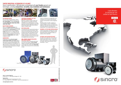 CSA-UL 4 pole alternators for North America | IP23