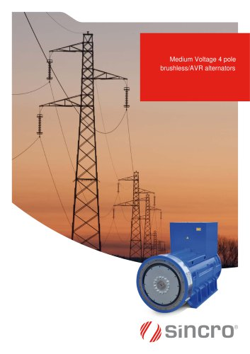 Medium voltage 4 pole alternators | IP23