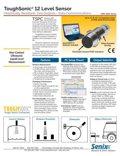 ToughSonic 12 Data Sheet