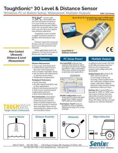 ToughSonic 30 Data Sheet