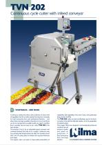 TVN 202- Continuous cycle cutter with infeed conveyor