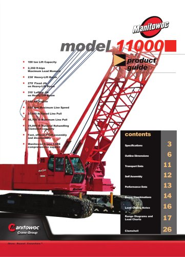 Crawler Cranes Model 11000