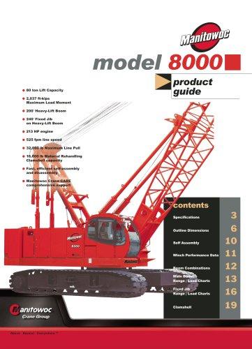 Crawler Cranes Model 8000