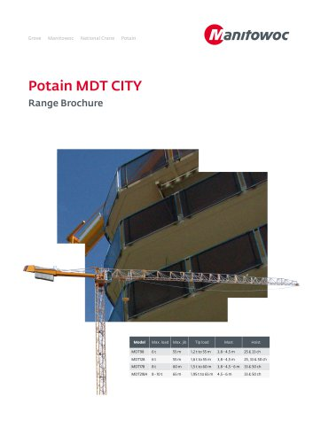 MDT City Tower Cranes