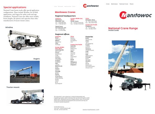 National Crane full line brochure combo