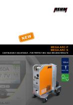 MEGA.ARC P und S - CONTINUOUSLY ADJUSTABLE – FOR PERFECT MIG / MAG WELDING RESULTS