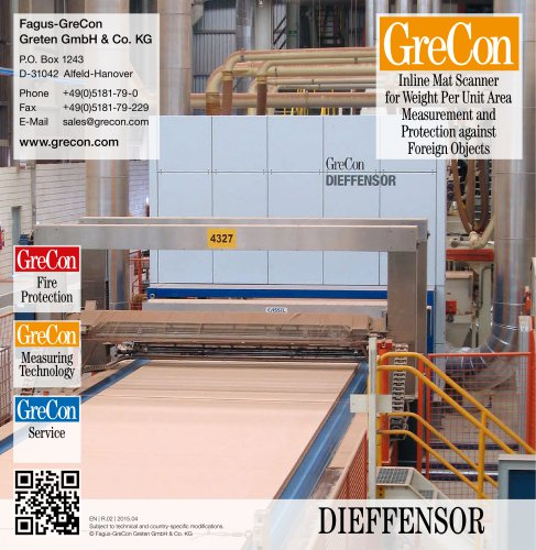 DIEFFENSOR - Inline Mat Scanner for Weight Per Unit Area Measurement and Protection against Foreign Objects