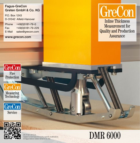 DMR 6000 -Inline Thickness Measurement for Quality and Production Assurance
