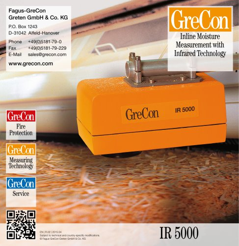 IR 5000 - Inline Moisture Measurement with Infrared Technology