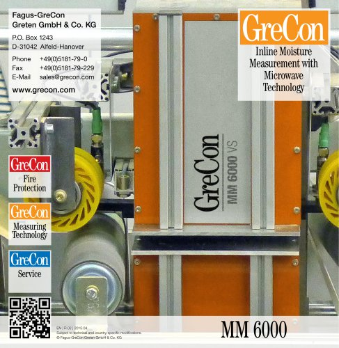 MM 6000 - Inline Moisture Measurement with Microwave Technology