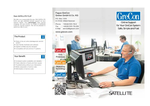 SATELLITE - Online Support for your GreCon system