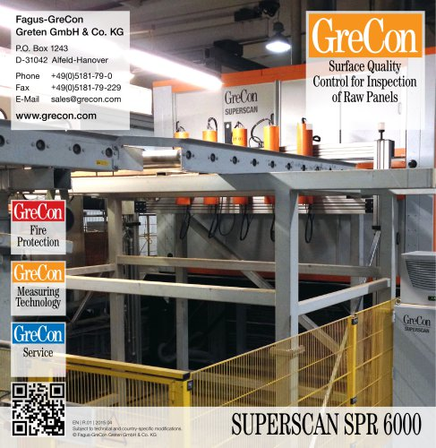 SUPERSCAN SPR 6000 - Surface Quality Control for Inspection of Raw Panels