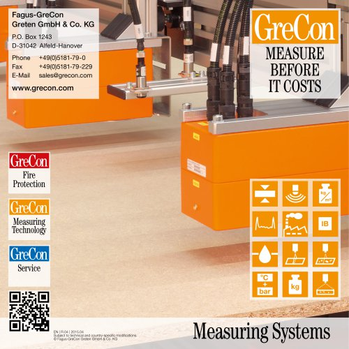 The Whole Range - GreCon Measurement Systems