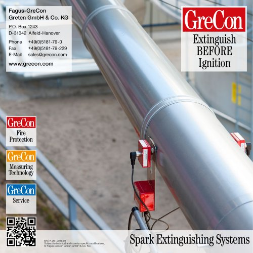 The Whole Range - GreCon Spark Detection & Extinguishment Systems