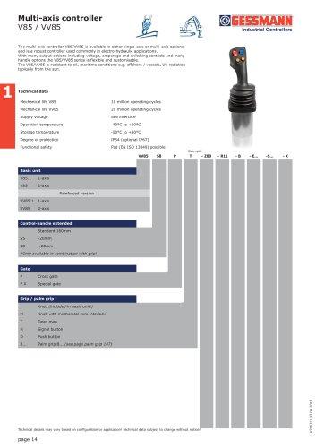 Multi-axis controller V85 / VV85