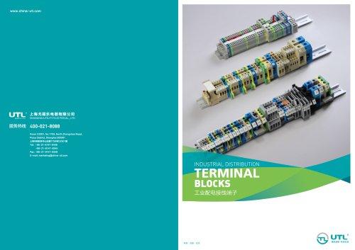 DIN rail-mounted terminal blocks