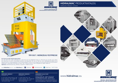HIDRALMAC PRODUCT CATALOG