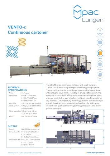 VENTO-c Continuous cartoner