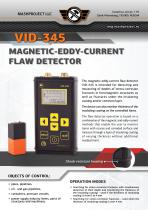 Magnetic-eddy current flaw detector VID-345