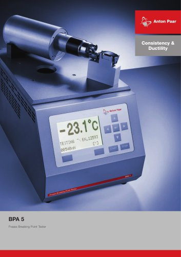 Consistency & Ductility - BPA 5 Fraass Breaking Point Tester_ H54IP001EN-E