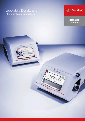 DMA 501 DMA 1001 - Laboratory Density and Concentration Meters_ E15IP001EN-D