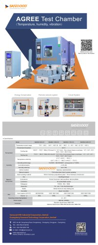 CLIMATIC TEST CHAMBER / HUMIDITY / TEMPERATURE / VIBRATION SM-MVH-1000-CC