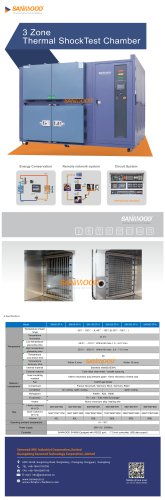 CLIMATIC TEST CHAMBER / THERMAL SHOCK / WITH TEMPERATURE AND CLIMATIC CONTROL / LARGE